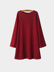 Burgundy Dress with Bell Sleeve