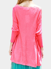 Pink Bat Sleeves Loose Knitted Jumper