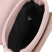 Pink Leather-look Shoulder Bag with Tassel Embellished