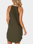 Army Green Simple Sleeveless Mini Dress