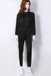 Casual Zipper front Design Jumpsuits in Black
