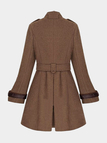 Brown Double Breasted Belt Trench Coat