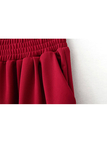 Elastic Waist Jogger Trousers in Red