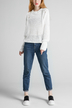 White Crew Neck Knitted Jumper