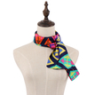 Geometrical Printing Scarf in Navy