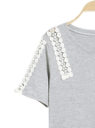 Sweet Style Lace Stitching T-shirt