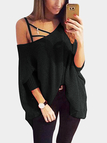 Casual One Shoulder Loose Mini Dress In Dark Grey