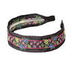 Pastoral Flower Embroidered Headband in Black
