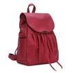 Leather-look Backpack in Red