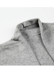 Grey High-low Hem Knitted Cardigans