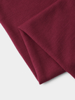 Burgundy Solid Color Two Large Pockets Loose Dresses