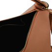 Brown Zipper Front Pocket Shoulder Bag
