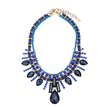 Royal Blue Water-drop Jewel Layered Necklace