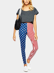 Flag Print Leggings