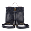 Navy Batchel Backpackwith Contrast Trims and Magnetic Closure