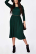 Plus Size Midi Dress with Belt