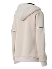Double Color Hooded Pocket Front Sweatshirt