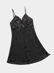 Black Lace Details V-neck Sleeveless Pajama Dress