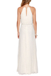 Sleeveless Back Cut Out Halter Maxi Dress in White