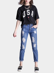 Blue Ripped Details Skinny Jean