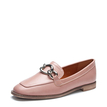 Pink Fashion Chain Embellished Loafers
