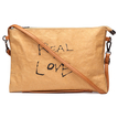 Brown Kraftpaper Letter Pattern Clutch Bag