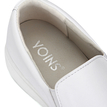 White Leather Look Round Toe Slip-on Casual Loafers