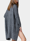 Dark Grey Knitted Duster Cardigans