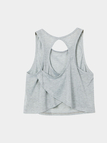 Grey Simple Crossed Back Vest