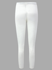 Active Stitching Design Side Pockets Sports Pants in White