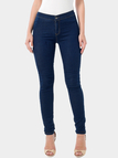 Dark Blue Without Front Pockets Basic Bodycon Jeans