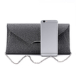 Black Glitter Clutch Bags with Chain