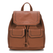 Brown Drawstring Design and Magnetic Closure Backpack