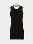 Black Sleeveless Round Neck Mini Dress
