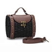 Woven Crossbody in Black with Rivets