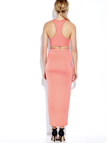 Sleeveless Crop Top and Wrap Front Maxi Skrit Co-ord