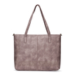 Soft Brown Tote Bag and Removable Clutch with Lining