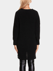 Black Two Pockets V-neck Long Sleeves Sweater Dress
