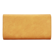 Yellow Studded Embellished Leather-look Clutch Bag with Shoulder Strap