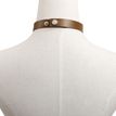 Silver Plated Circle Button Choker Coffee Necklace