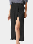 Black High Waist Tulip Hem Long Skirts