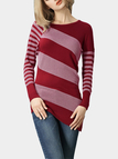 Rust Irregular Stripe Sweater