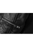 Leather Look Jacket with Buckle Waist