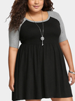 Plus Size T-Shirt Dress With Raglan Sleeves