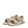 Apricot Hemp Rope Suede Flat Sandals