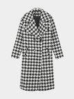 Oversize risvolto Collare Duster Coat