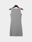 Grey Bodycon Sleeveless Lace-up Mini Dress