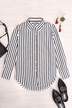 Stripe Shirt With Irregular Hem