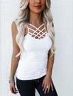 White Criss Cross Cami Top