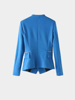 Blue Blazer With Zipper Details